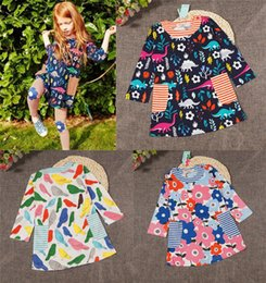 Wholesale Wholesalers For Childrens Clothing - ins Girls Childrens Dresses Autumn Winter Long Sleeve Flowers Printed Princess Dress Cotton Fashion Dresses for Girls Kids Clothes