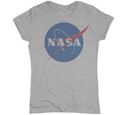 Wholesale Apollo Free - Wholesale-New 2016 Summer Women's T Shirt Fashion NASA T-Shirt Camisetas nasa Shirt Discovery Apollo Astronaut Top Tee Gift Free Shipping