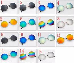Wholesale Vintage Frog Woman - 15 colors Sunglasses Retro Aviator Fashion Classic Eyeglasses Mirror Reflective Lens Sunglasses Vintage Outdoor Frog Unisex Sunglasses YYA90