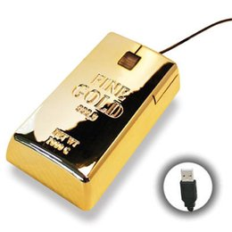 Wholesale Wholesale Gold Bullion Bars - Wholesale Luxury USB Gold Bar Mouse,Shiny Gold USB Wired Optical Mouse,Golden Bullion gift USB Optical mouse for Computer,Laptops Notebook