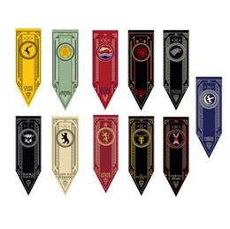 Wholesale Wholesale Team Flags - House Stark Banner Game of Thrones Wolf Tournament Outdoor Banner Flag 48*150 Custom America USA Team Soccer College Baseball Flag OOA2801