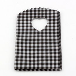 Wholesale Jewelry Small Black Pouches - Hotl ! Jewelry Pouches .1000pcs Black Small Checkered Plastic Bags Jewelry Gift Bag 9X15cm