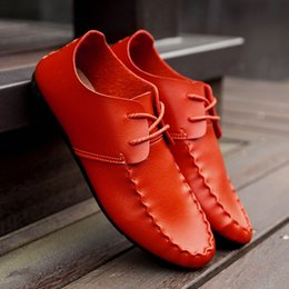 Wholesale Leather Mr B - Mr Mir Big Size New Handmade Genuine Leather Men Flats, Driving Soft Leather Men Moccasins, Brand Leather Men Shoes DHL free shipping