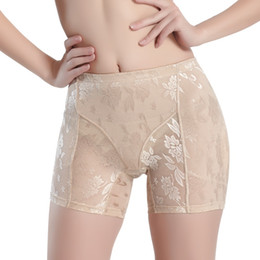 Wholesale Seamless Knickers - Wholesale- Women Shapewear Padded Panties Seamless Breathable Lace Body Shaper Knickers
