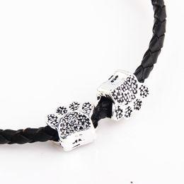 Wholesale Pandora Dog Charms - 100pcs lot metal alloy bear paw shape beads dog paws charms for Pandora bracelet women diy jewelry wholesale