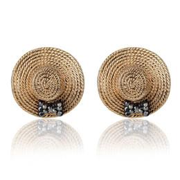 Wholesale Retro Cross Earrings - Kalome jewelry Korea fashion cute hat Crystal Earrings Korean lady Earrings retro decoration