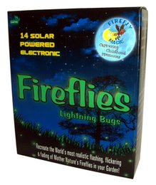 Wholesale Colored Led Night Lights - Solar AND Battery-Operated Firefly Lights Lightning Bug Lights Firefly Green (yellow-green) LED romantic Night Light Holiday Gift