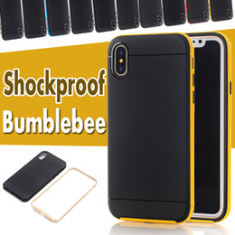 Wholesale Robot Heavy Hybrid Cases - Bumblebee Case Hybrid TPU+PC Heavy Duty Rugged Armor Robot Shockproof Pretective Hard Cover For iPhone X 8 7 Plus 6 6S Samsung S8 S7 Edge