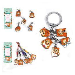 Wholesale Head Phones Charms - Himouto Umaru-chan Umaru Hamster Sankaku Head Keychain Metal Figure Pendant Charm with Key Ring phone straps Key Chain