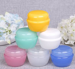 Wholesale Plastic 5g - Wholesale 6 ccolors 5g 10g 20g 30g packing jars for cosmetic cream jar with inner cap refillable bottle Empty make up containers