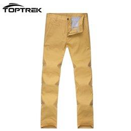 Wholesale Cotton Trouser Fabric - Wholesale-Toptrek Clothing Summer Style Men Casual Pants Outside Trousers 10 Color Size:28-38 100% Cotton Fabric Pantalones Hombre