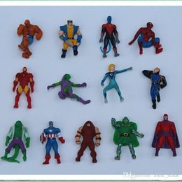 Wholesale Orange Irons - 2017 The Avengers Mini Action Figures Gashapon Gachapon Capsule Toys Superhero spiderman Iron captain Mini Figuress children Christmas Gifts