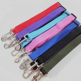 Wholesale Pet Hound - Factory Price!! 6 Colors 300pcs Cat Dog Car Safety Seat Belt Harness Adjustable Pet Puppy Pup Hound Vehicle Seatbelt Lead Leash for Dogs
