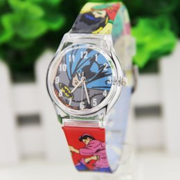 Wholesale Transparent Wound Dressing - Harajuku zipper wind Batman transparent plastic watch small fresh soft sister Sen female students watch watch female models