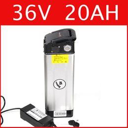 Wholesale 36v electric bike battery pack - 36V 20AH Aluminum housing lithium battery 42V lithium ion battery + charger + BMS , electric bike pack Free customs duty