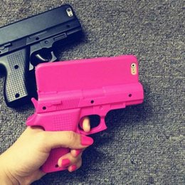 Wholesale Wholesale Gun Cases - Mobile Cell Phone Case 3D Gun Shape Hard Phone Case Cover For iPhone 6 Plus 4.7 Cell Phone Cases