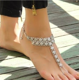 2016 New Foreign Trade Hot Style Restoring Ancient Ways Is Exaggerated Coin Spelling A Flower Ladys Foot Chain Bracelet Hottest Girls Feet Outlet