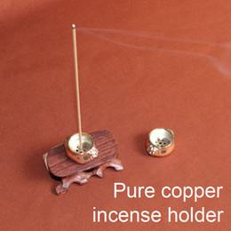 Wholesale Copper Holders - wholesale Censer home decoration Pure copper burner holder for sandalwood agarwood incense sticks