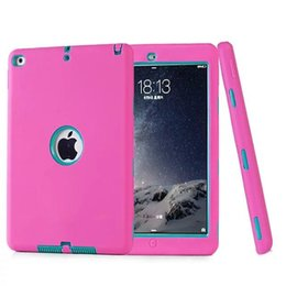 Wholesale China Wholesale Germany - Colorful Robot Shockproof Cover Kick Off Stand Military Extreme Heavy Duty Tablet cover for ipad mini iPad 2 3 4 air 5 6