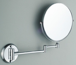 Wholesale Framing Bathroom Mirrors - 2-Face Magnify Wall-mounted bathroom mirror cosmetic double-sided double-sided folding magnifier Wall Beauty make-up mirror Beauty 460