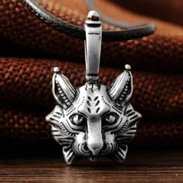 Wholesale Vintage Cat Gold Necklace - punk New Vintage Lynx Bobcat Pendant Lynx head Pendant Necklace cat Jewel Pagan Jewelry Animal Pendant Necklace Jewelry hot sale