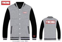Wholesale Hoodies Ymcmb - Autumn Men Single-breasted coat printing Streetwear Hip Hop Sweatshirt ymcmb Anime jacket Men College Sport Hoodies