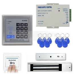 Wholesale Complete Diy - Door Access Control Security System Kit + 280Kg Electric Magnetic Lock Diy Full Complete 125KHz Rfid Card Reader K2000