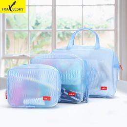 Wholesale Punching Bag Sets - Wholesale- 2017 Newest Cosmetic Bags Multifunction Makeup Organizer Bag Waterproof Women Cosmetic Bags Toiletry Kits Travel Punch 3pcs Set