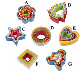 Wholesale Chocolate Kitchen Decor - Hot Cookies Cutter Set Slicer Frame Cake DIY Mold Heart Shape Decor Edge Cutter Party Plastic Cookies Maker Kitchen Accessory