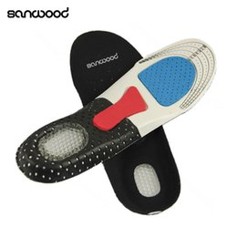 Wholesale Gel Arch Support Inserts - Free Size Unisex Orthotic Arch Support Shoe Pad Sport Running Gel Insoles Insert Cushion for Men Women 02NN 4NGI