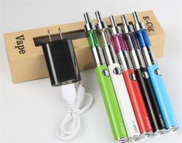 Wholesale New Wall E - New arrival Ugo-V E Cigarette 650mah 900mah EVOD Battery E Cig with usb cable Wall charger USB Passthrough Electronic cigarettes DHL free