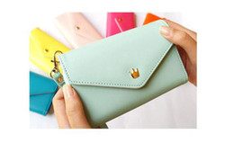 Wholesale Envelope Wallet For Iphone - Promotion Multi Purpose Envelope pouch For Iphone 4 4S 5 HTC One X Samsung MOTO Multifunctional Card Holders