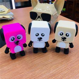 Wholesale Cute Robot Cartoon - Dog Robot Speaker Dance Bluetooth Portable Speakers Wireless Cartoon Cute Stereo Bass Hands-free Phone Function 2017 New Arrival