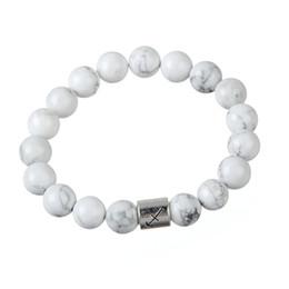 Wholesale Wholesale Fashion Jewelry Quality Turquoise - Best Quality Handmade Zodiac Sagittarius Beads Bracelet White Turquoise Bangles For Fashion Jewelry