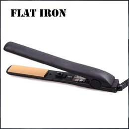 Wholesale Fix Straight Hair - Classical BLACK Ceramic Hairstyling Flat Iron with Retail Box hair straighter curler hair straightener Free DHL shipping 40PCS