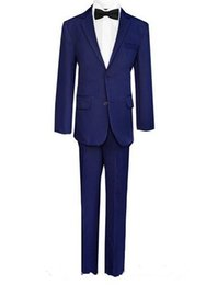 Wholesale Little Boys Wedding Suits - Hot sale boy suits gentleman boy formal occasions suits little boys flower girl dress suits boy suits for wedding(jacket+pants+vest+tie)