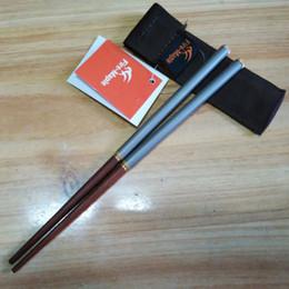 Wholesale Fire Maple - Wholesale-2016 New Titanium Folding Chopsticks Camping Tableware Outdoor Camping Picnic Chopsticks Bacchette Cinesi Fire Maple FMT-T17