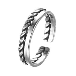 Wholesale Cheap Male Rings - 5pcs lot New Arrival Gothic 925 Sterling Silver Male Rings Statement Adjustable Biker Ring Cheap Jewelry Wholesale