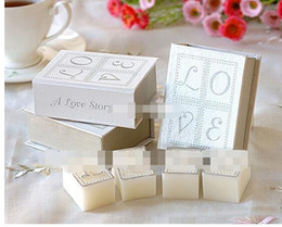 Wholesale Wedding Scented Favors - 6books=24pcscandles lot,smokeless scented creative LOVE book candle wax as valentine's day&wedding personalized favors and gifts