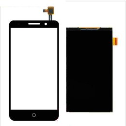 Wholesale Touch Panel Iphone 3g - Wholesale- For Alcatel One Touch Pixi 3 5.0 3G 5015 5015A 5015D 5015E 5015X Black White Touch Screen+LCD Display Touch Panel Digiziter