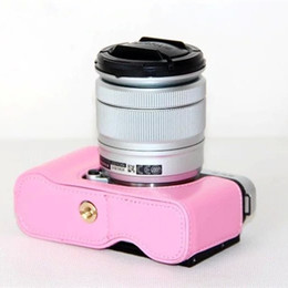 Wholesale A2 Leather - Oil Leather For FujiFilm Fuji XM1 XA1 XA2 X-M1 X-A1 X-A2 Half Case Bag Body Set bottom Cover Easy Take Out of Battery