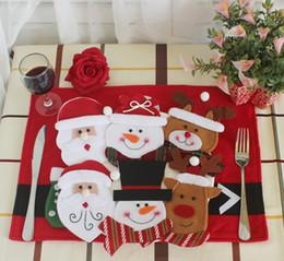 2019 sacos de faca para Feliz Natal Decoração 2017 Talheres Terno Titulares Bolsos Facas Folks Bag Boneco De Neve Jantar Decoração de Casa Decoração desconto sacos de faca para
