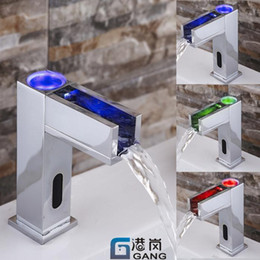 Wholesale Medical Faucet - The new LED faucet with lamp waterfall copper faucet   cold water faucet medical Basin
