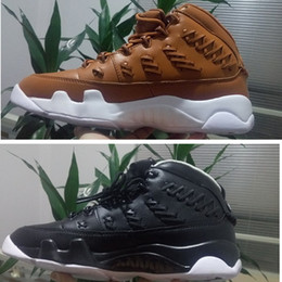 Wholesale Fabric Basket Weaving - Men Air New Basketball Sneakers Retro 9 basketball shoes sneakers basket ball 9s Woven Brown Black size 41-47