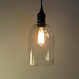 Wholesale Master Bedroom Decor - Retro Industrial DIY Ceiling Lamp Light Glass Pendant Lighting Home Decor Fixtures Free Edison Bulb E27 110V-240V