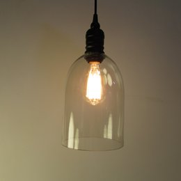 Wholesale Office Room Decor - Retro Industrial DIY Ceiling Lamp Light Glass Pendant Lighting Home Decor Fixtures Free Edison Bulb E27 110V-240V