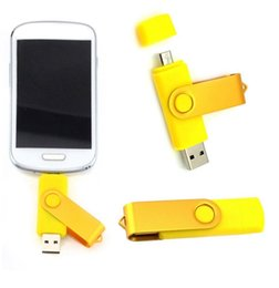 Wholesale Micro Disks - 128GB 256GB OTG (On The Go) Micro USB Swivel USB 2.0 Flash Drives Memory Stick for Android Smartphones Tablets PenDrives U Disk Thumbdrives