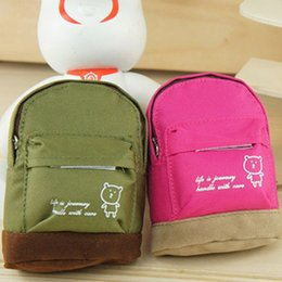 Wholesale Cute Key Pouch - Wholesale-Girl's Kid's Cute Bear Mini Backpack Shape Keys Pouch Bag 926L