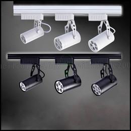 Wholesale 12w Led Track Light - 3W 5W 7W 12W 18W LED Track Rail Ceiling Spot light Downlight Shop Lamp Warm Pure LLWA217