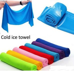 Wholesale Sports Towel Pva - Cold Towesl cooling Towel Exercise Sweat Summer Sports Ice Cool Towel PVA Hypothermia Cooling Towel 8 color Single layer Free Shipping